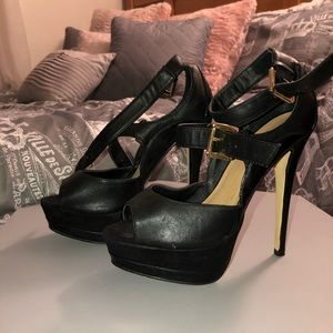 Closet Clear Out! Black JustFab Heels!